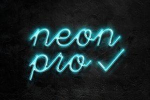 霓虹灯字体文本图层样式 Neon Pro text effect插图3