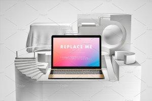 创意的Macbook展示模型Mockups打包下载[psd]插图5