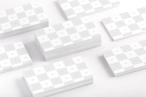 企业名片正反面设计效果图预览样机02 Business Cards Mockup 02插图2