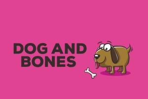 小狗&骨头矢量插画设计素材 Dog and Bones Illustration Artwork Vector插图1
