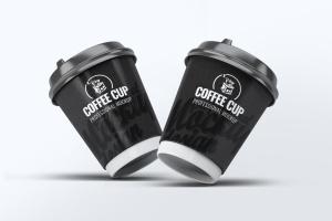 咖啡纸杯外观设计效果图样机模板 Coffee Cup Mock-Up V.2插图4