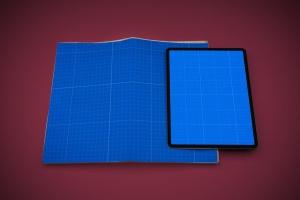 电子版报纸版式设计效果图样机 Newspaper App MockUp插图10