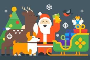 圣诞节&新年庆祝主题矢量插画素材 Christmas & New Year Illustrations插图1