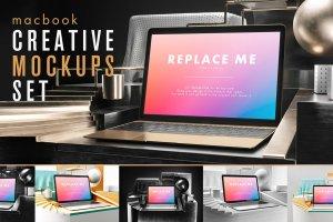 创意的Macbook展示模型Mockups打包下载[psd]插图1