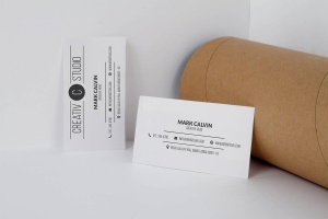 极简设计高端企业名片设计样机模板 Clean Business Card Mock Up插图1