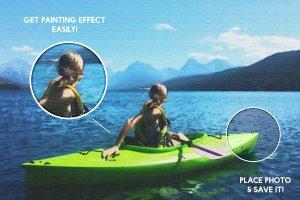 油画风格明信片效果图层样式 Postcard Shop for Adobe Photoshop插图3