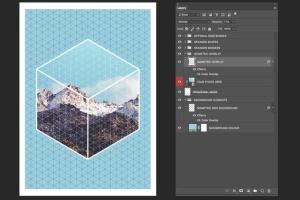 等距网格效果PSD分层模板 Isometric Grid Effects插图5