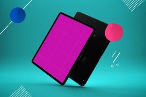 iPad Pro平板电脑UI设计屏幕预览效果图样机 Abstract iPad Pro Mockup插图12