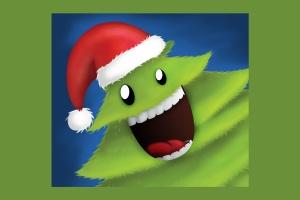 可爱设计风格圣诞树设计PSD分层模板 Christmas Tree插图4