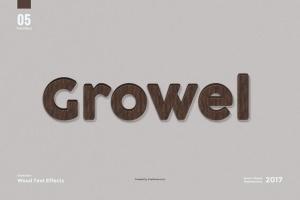 8款超逼真木纹效果PS字体样式 8 Wood Text Effects插图7