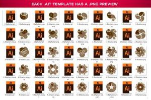 曼陀罗装饰元素AI图层模板 Ai Mandala Ornament Templates插图8