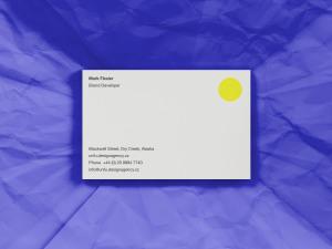 企业名片设计效果图预览样机模板 PSD Business Card Mockup插图2