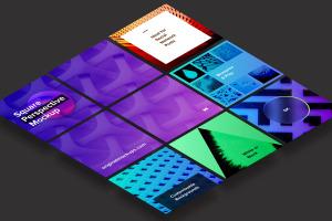 方形自媒体社交宣传设计效果图透视样机03 Square Perspective Mockup 03插图4