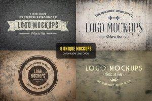 复古风格Logo样机模板v1 Vintage Logo Mockups Volume 1插图4