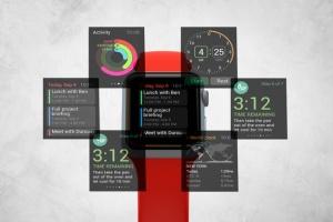 Apple智能手表APP设计展示设备样机V.3 Apple Watch Mockup V.3插图4