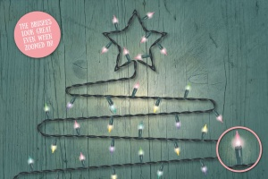童话灯饰效果设计AI笔刷 Fairy Light Brushes插图4