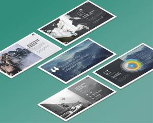 等距桌面屏幕截图预览样机v1 Isometric Desktop Screens Mockup V01插图6