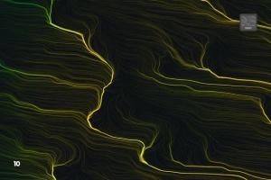 10款高分辨率抽象数流体线条PS笔刷 Digital Perlin Flow Fields Photoshop Brushes插图11