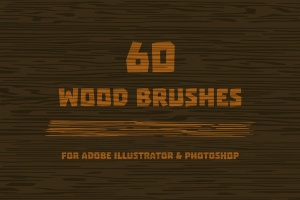 60款木纹纹路AI笔刷 Wood Brushes for Adobe Illustrator插图1