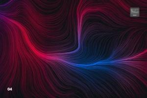 10款高分辨率抽象数流体线条PS笔刷 Digital Perlin Flow Fields Photoshop Brushes插图5