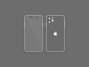 极简主义扁平设计风格iPhone 11 Pro手机样机SKETCH模板插图4