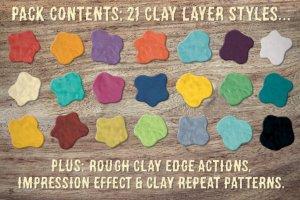 21种创意粘土手作图层样式 Digital Clay- Layer Styles & More插图6