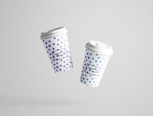 7个咖啡纸杯设计图PSD样机模板 7 PSD Coffee Cup Mockups插图4