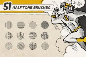 复古美式漫画效果生成Procreate笔刷 Vintage Comic Procreate Brushes插图5