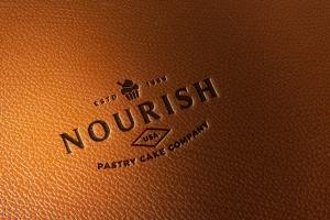 真皮材质品牌Logo设计压印效果图样机模板 Leather Branding logo mockups插图1