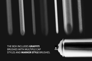 涂鸦艺术插画创作Procreate笔刷工具箱 The Graffiti Box: Procreate Brushes插图4