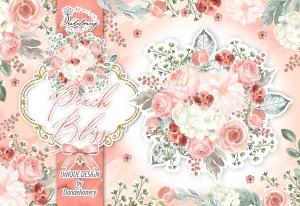 桃花色水彩手绘花卉剪贴画PNG素材 Watercolor Peach Bliss design插图2