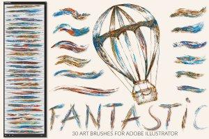 插画家的数字绘画艺术神奇精彩画笔插图(1)