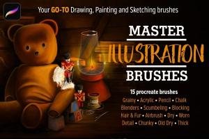15种风格独特的Procreate笔刷套装插图(3)