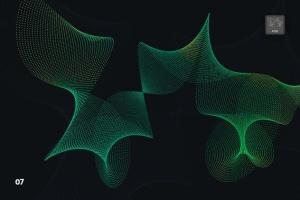抽象虚线波浪漩涡图案Photoshop笔刷 Dotted Wavy Swirls Photoshop Brushes插图8