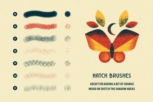 用于Illustrator的复古明暗效果纹理&噪点笔刷 Shader Brushes for Illustrator插图(5)