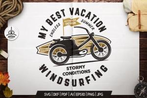 复古冲浪图案T恤印花设计素材 Surfing Retro Graphics Prints TShirt, Summer Label插图2
