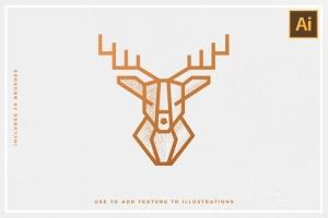 30款点画效果设计AI笔刷 Stipple Brushes For Illustrator插图(5)