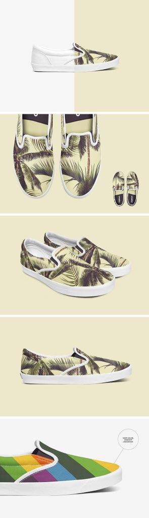 帆布鞋样机 Slip-on Shoes Mockup Set插图
