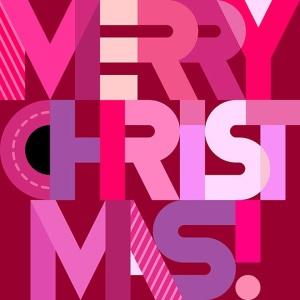 圣诞节主题装饰文字矢量图形素材 Merry Christmas decorative text (two options)插图(3)