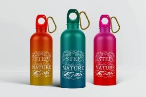 金属运动水杯外观样机模板 Reusable Water Bottle MockUp插图1