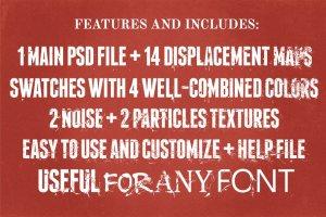 毁灭破坏风格图层样式 Text Destroyer插图3