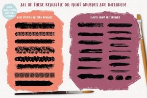 高品质油画质感AI画笔笔刷 Outstanding Oil Paint Brushes插图9