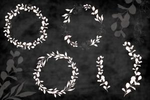 腮红色水彩手绘叶子图案剪贴画PNG素材 Blush Foliage Clip Art Bundle插图4