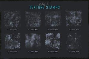 素描卡通3D渲染笔刷 Grunge Toolbox Procreate Brushes插图5