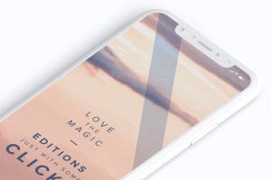 多个iPhone X智能手机屏幕等距平铺视觉样机模板 Clay iPhone X Mockup 02插图7