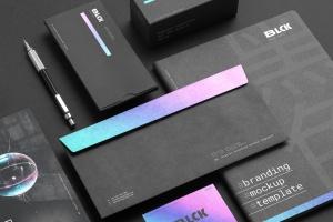 高端黑办公用品套装品牌VI设计效果图样机 Blck Branding Mockup Kit插图1