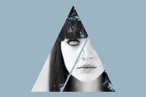 12个破损几何图形背景PSD分层模板 Instagram Textured Geometric Masks插图6