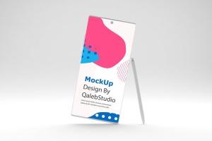 简约风格三星Note 10智能手机样机模板 Clean Note 10 Mockup插图3