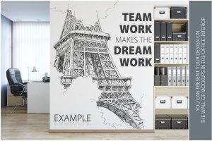 办公室墙纸设计样机模板合集 OFFICE Interior Wall Mockup Bundle插图6