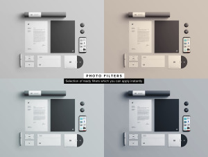 企业品牌VI视觉设计展示办公用品样机套件PSD模板 Stationery Branding & Identity Mockup – PSD插图9